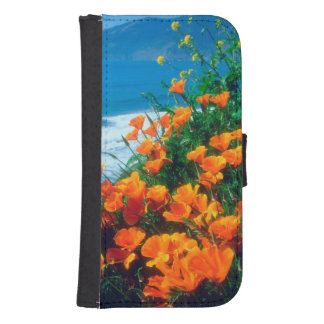 Poppies along the Pacific Coast near Big Sur Samsung S4 Wallet Case