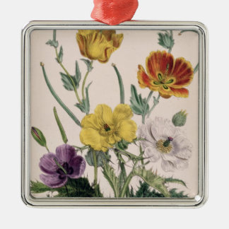 Poppies and Anemones Christmas Ornament