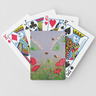 Poppies and Bees Bicycle Playing Cards