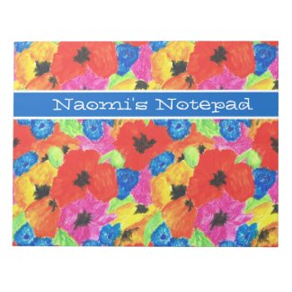 Poppies and Cornflowers Customisable Notepad