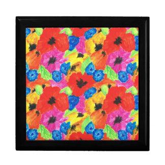 Poppies and Cornflowers Jewelry or Trinket Box