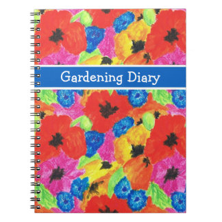Poppies and Cornflowers Spiral Notebook or Journal
