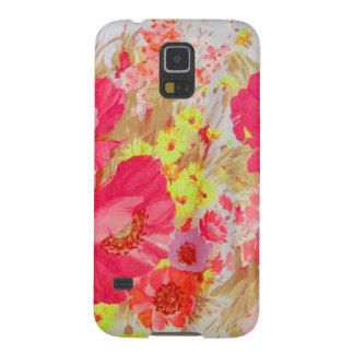 Poppies and Sunshine. Floral Print. Galaxy S5 Cases