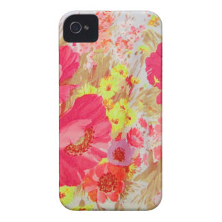 Poppies and Sunshine. Floral Print. iPhone 4 Cover