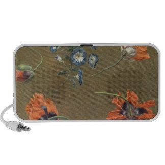 Poppies and Tradascanthus (oil on canvas) Travelling Speakers