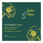 Poppies - Art  Save the date cards Custom Announcements