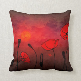 Poppies at Sunset Cushion