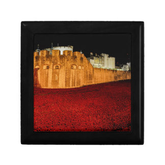 Poppies at the Tower of London - Night Panorama Gift Box