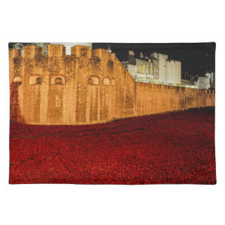 Poppies at the Tower of London - Night Panorama Placemat