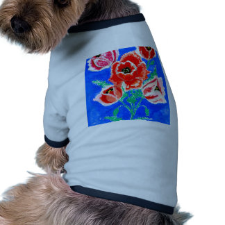 Poppies Bouquet Painting Ringer Dog Shirt