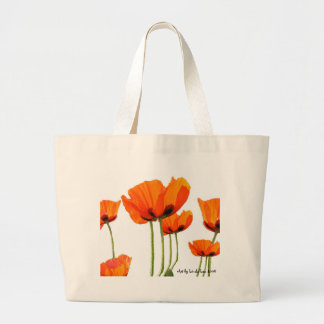 Poppies! by Linda Lou - Mother's Day Gift Package Jumbo Tote Bag