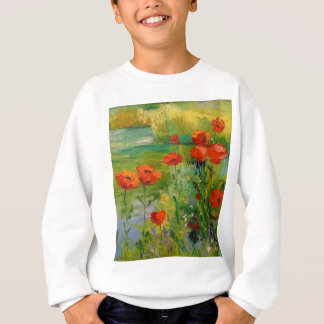 Poppies by the pond sweatshirt
