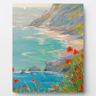 Poppies by the sea plaque