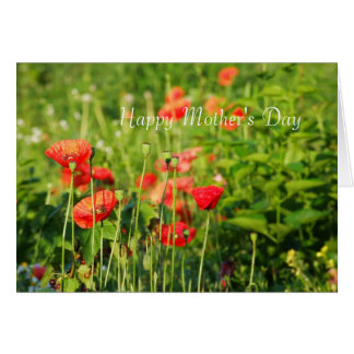 Poppies card, Happy Mother's Day Greeting Card