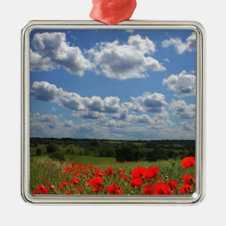 Poppies Christmas Ornament