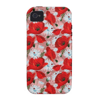 Poppies Daisies and Ladybirds iPhone 4 Cases