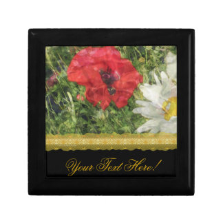 Poppies Daisies Elegant giftbox Small Square Gift Box
