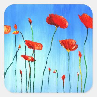 Poppies - Dance in the Sun Square Sticker