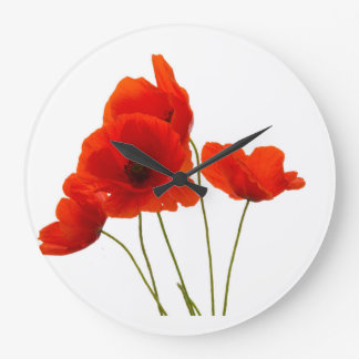 """Poppies"" design wall clocks"