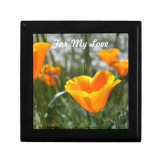 Poppies For My Love Small Square Gift Box