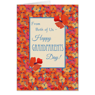 Poppies, Grandparents Day Card, From Both of Us Greeting Card