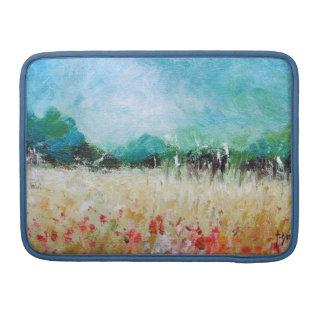 Poppies in a Cornfield Macbook  Sleeve