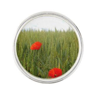 Poppies in a Wheat Field Lapel Pin