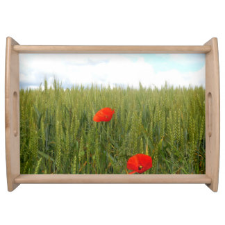 Poppies in a Wheat Field Serving Tray