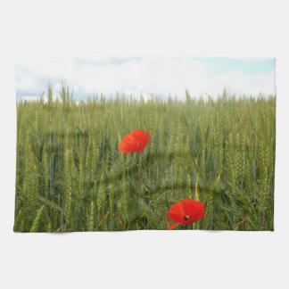 Poppies in a Wheat Field Tea Towel