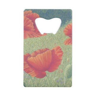 Poppies in Flanders Fields in Pastel Bottle Opener