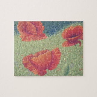 Poppies in Flanders Fields in Pastel Jigsaw Puzzle