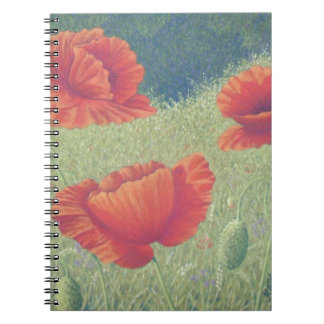 Poppies in Flanders Fields in Pastel Notebook