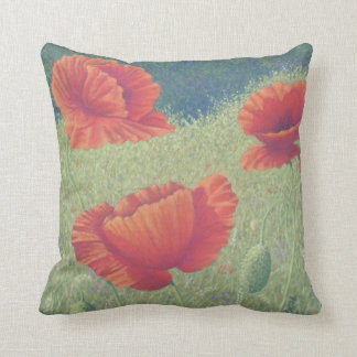 Poppies in Flanders Fields Polyester Cushion