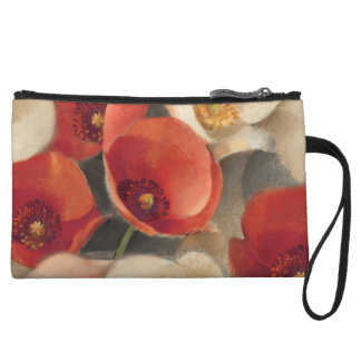 Poppies in Full Bloom Wristlet