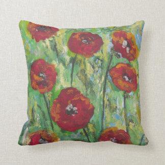Poppies in sunlight cushion