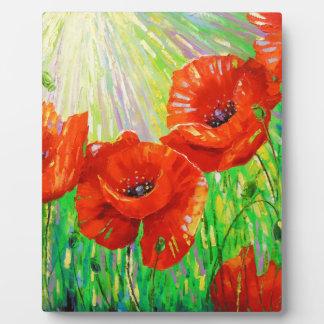 Poppies in sunlight plaque