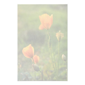 """Poppies In The Evening Sun"" Writing Paper"