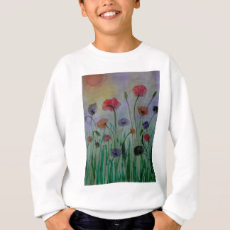 poppies in the meadow sweatshirt