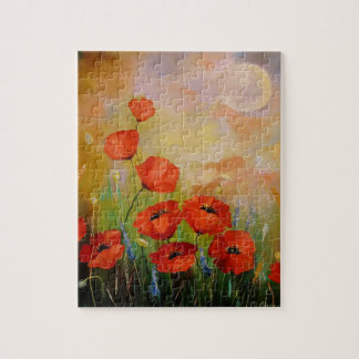 Poppies in the moonlight jigsaw puzzle