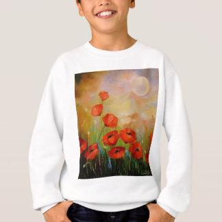 Poppies in the moonlight sweatshirt