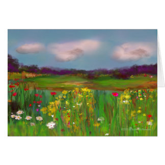 Poppies in the Park Greeting Card