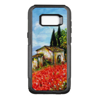 POPPIES IN TUSCANY / Landscape with Flower Fields OtterBox Commuter Samsung Galaxy S8+ Case