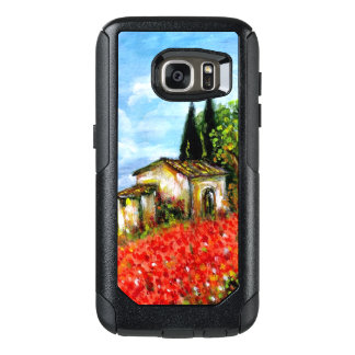 POPPIES IN TUSCANY / Landscape with Flower Fields OtterBox Samsung Galaxy S7 Case