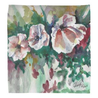 Poppies in Watercolor Bandana