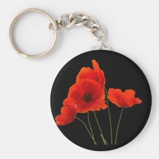 """Poppies"" Key Ring"