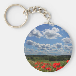 Poppies Key Ring