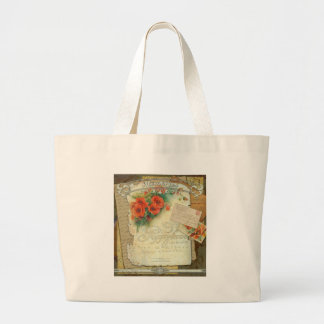 Poppies Memories and French Script Jumbo Tote Bag