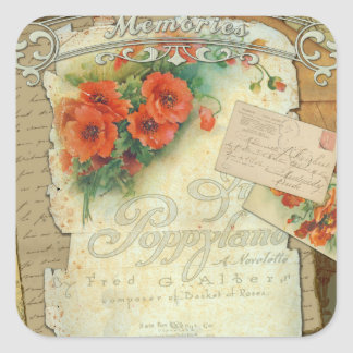 Poppies Memories and French Script Stickers