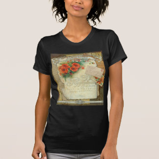 Poppies Memories and French Script T Shirt
