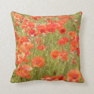 POPPIES MONET STYLE CUSHION